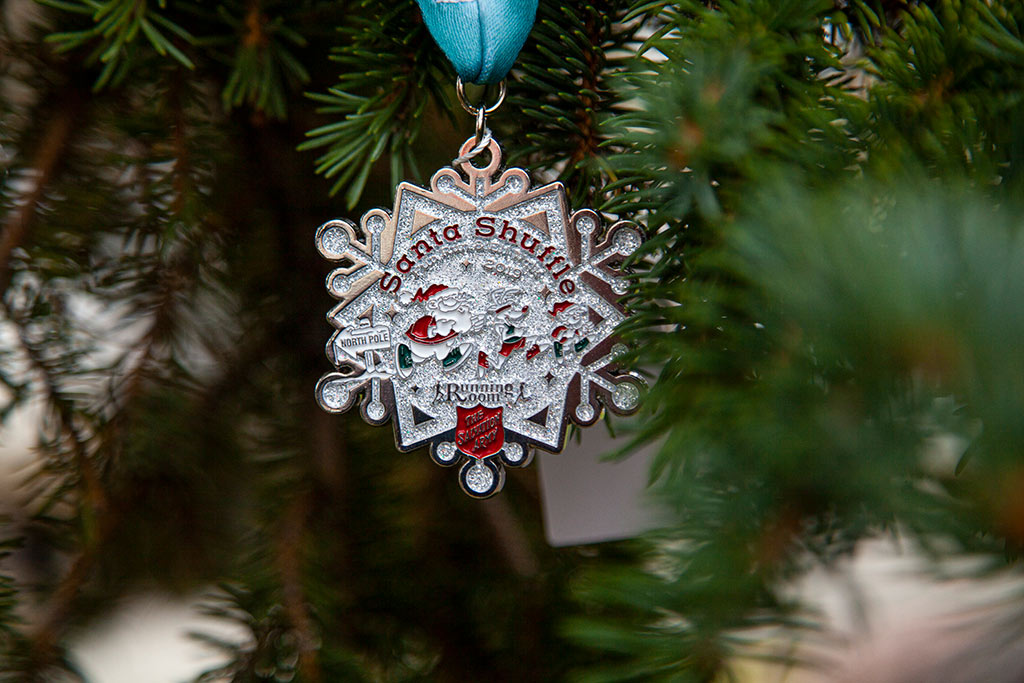 Santa Shuffle Medal